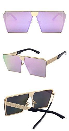 Light Lunettes polarisées violet conduite mode de chaude réfléchissant Wayfarer soleil Womens métallique châssis Mens DESESHENME de Ultra PxCnAwSYqq
