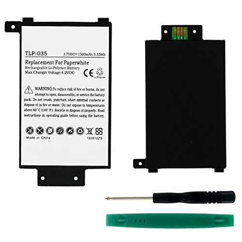 Battery Compatible with Amazon Voyage Tablet Battery - Li-Pol 3.7V 1500mAh - Replacement for 58-000008 Tablet Battery by Synergy Digital