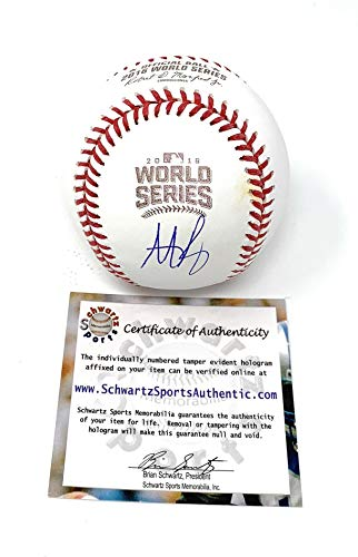 Anthony Rizzo Chicago Cubs Signed Autograph Official MLB Baseball Schwartz Sports Authentic Certified from Mister Mancave