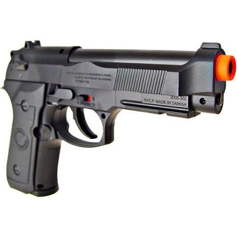 500 fps new wg airsoft m9 beretta ris gas co2 hand gun pistol w/ 6mm bb  bbs(Airsoft Gun)