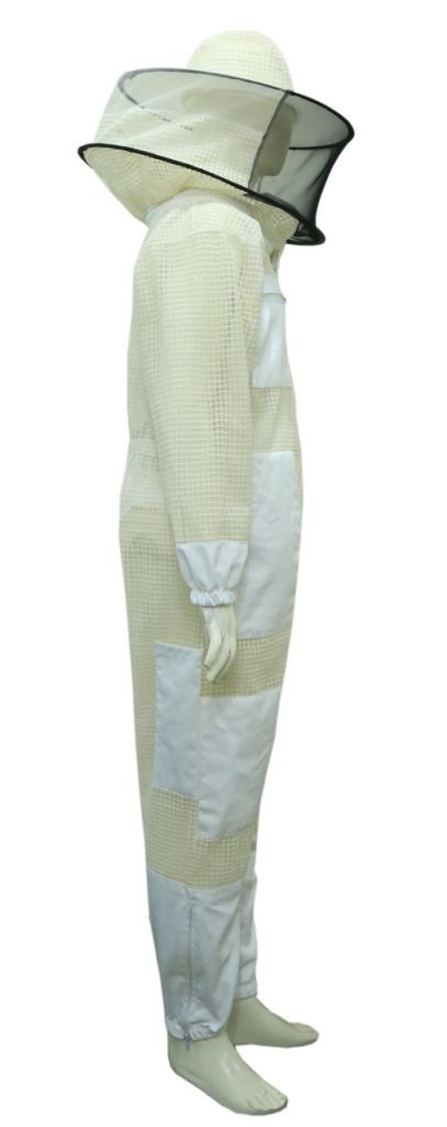 Professional Bee Unisex White Fabric Mesh Beekeeping Suit Sting Proof Bee Suit Ventilated Bee Suit Bee X-Large (White) by Professional Bee