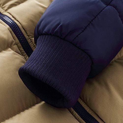 Outerwear Coat Coat Apparel Slim Hooded Zipper Gelb Fashion with Fleece Jacket Men's Long Contrast Sleeve aO1wfwq
