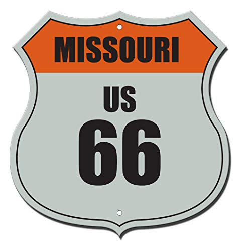 Missouri Route 66 Shield Rusty Flag Novelty Highway Shield SignVinyl Sticker Decal 8