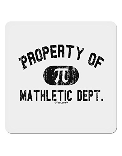 TooLoud Mathletic Department Distressed 4x4 Square Sticker - 4 Pack