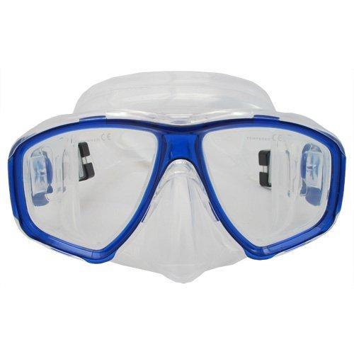 Scuba Choice Scuba Blue ダイビング 潜水 シュノーケル用マスク 遠視用 処方箋 RX 視力矯正フルレンズ (並行輸入) B00DMRHQPU   1