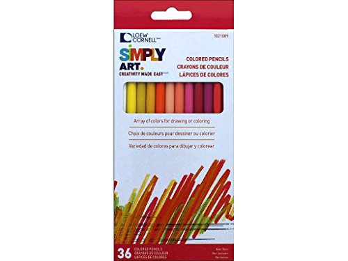 Loew-Cornell 1021089 Simply Art Colored Pencils