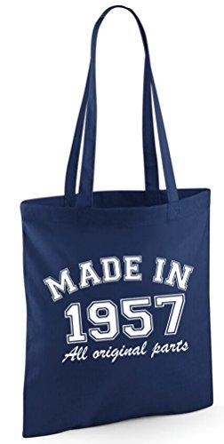 Bag Shoulder Made Tote Navy Edward Sinclair 1957 All original in parts Bag qApqv