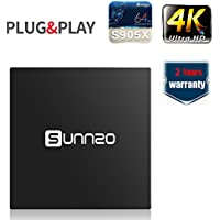 SUNNZO X96 4K Ultra-HD Android 6.0 Smart TV BOX/Quad-Core Streaming Media Player with Amlogic S905X,1GB RAM+8GB Samsung Original eMMC,WiFi/Ethernet
