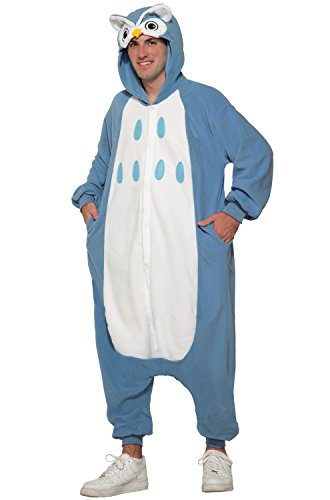 Forum Women's Owl Onesie Jumpsuit Costume, Blue/White, STD