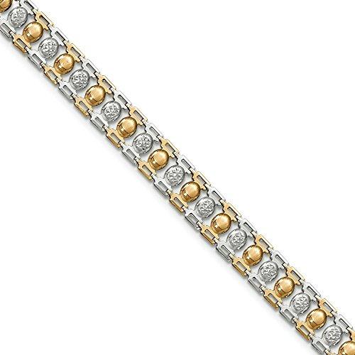 Lien en or 14carats Bicolore-Bracelet Femme-20cm