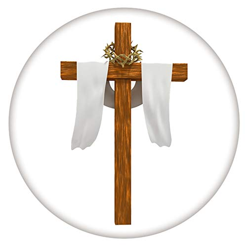 My Prime Gifts Easter Palm Sunday Resurrection Cross Snap Jewelry Painted Enamel Standard Size 18-20mm Snap ()
