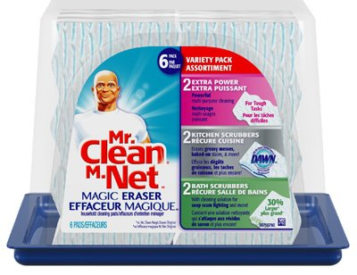 Tub Eraser - Mr Clean Sponge Variety Pack and Tub Cleaner Magic Eraser, 6 count per pack - 3 per case.