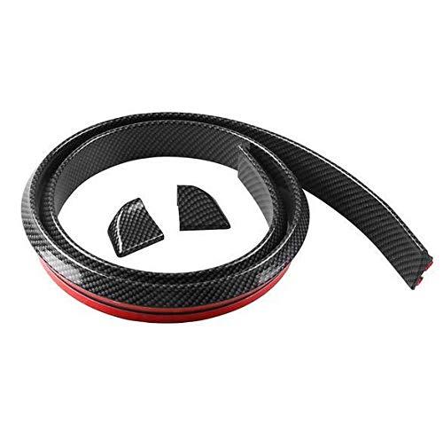 Universial 1.5M4CM Rubber Carbon Fiber Car Bumper Strip Protector Sticker for Bumper Lip Kit - Fiber Subaru Carbon Skirt