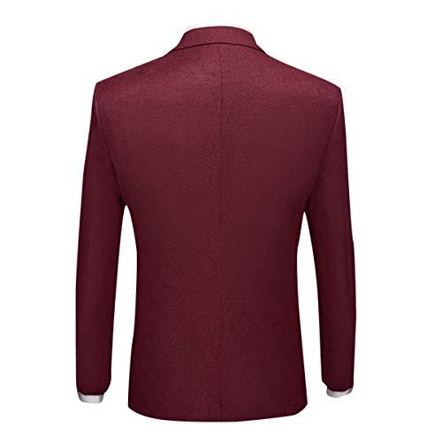 Sliktaa 3 Haut Business Gilet Homme Mariage Smoking Vintage Élégant Pièces Rouge Classique Formel Costume Bal Et Veste De Pantalon 8HrPqEwx8
