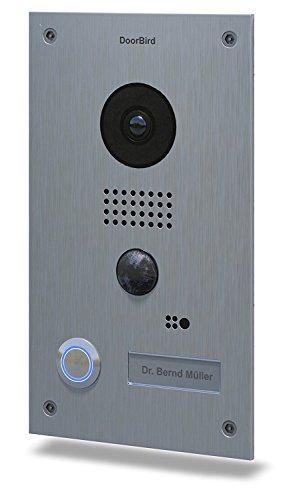 (DoorBird WiFi Video Doorbell D202, Stainless Steel, Flush Edition)