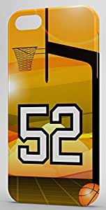 Basketball Sports Fan Player Number 52 Snap On Decorative iPhone 5c Case