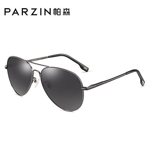 KOMNY polarizadas marcha moda fotograma Gun sol de blue conducción de de sol de moda de gafas de coloridos sky gafas film película sol sol atrás masculina Frame plata Ash de Gafas Gafas Black RRqarB8