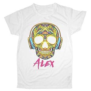 LolaPix Camiseta Unisex poliéster Personalizada con tu Foto, diseño o Texto. Tacto Algodón, Original y Exclusivo. Camiseta Blanca Impresa a Todo Color. Distintas Tallas. Talla XXL 22
