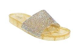 Jelly Glitter Summer Slide Gold Ii Sandal