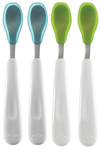 OXO Feeding Spoon 4 Count Green