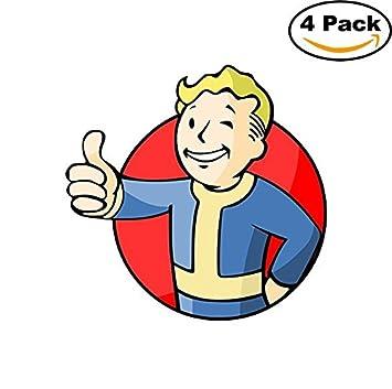 fallout 4 vault boy diecut vinyl sticker 4 stickers 4 inches amazon
