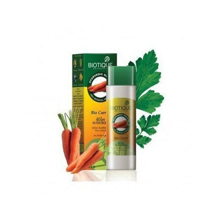 Biotique Bio Carrot 40+ SPF Sunscreen Ultra Soothing Face Lotion For All Skin Types 120ml