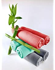Bamboo Dishcloths (Set of 6) Naturally Antibacterial Odor-Resistant by Bambizzle Textiles - Mixed Set
