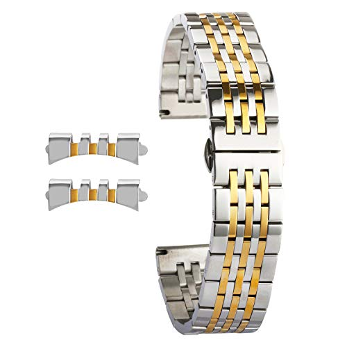 - Stainless Steel Watch Bands Replacement for Ladies Sliver Gold Watch Strap