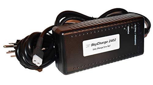 New SkyCharge 2402 Charger for Bruno Stair Lift Stairlift SRE-1540, SRE-1550, SRE-2000, SRE-2010 Elite, CRE-2110 Curved, SRE-2750 Models, OEM-2402, -
