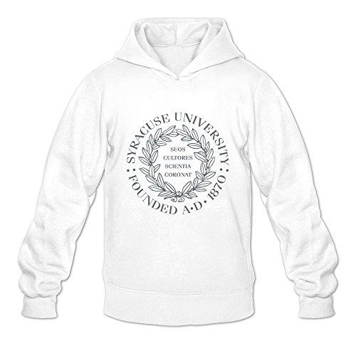- Tavil Syracuse University 100% Cotton Hoodies For Boyfriend White Size X-Large
