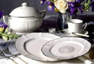 Noritake Chandon Platinum Dinner Plate