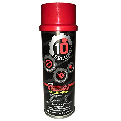 (10-Seconds Shoe Deodorizer and Disinfectant - The Only EPA-Approved Shoe Disinfectant effective against Bacteria, Fungus, Mold, and Mildew)