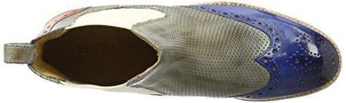 Melvin&Hamilton Amelie 5, Zapatillas de Estar por Casa para Mujer Mehrfarbig (Crust/Crust Perfo/Crust E-Blue/ Morning Grey/Arancio Ela Off White Rook D White)