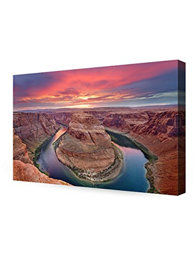 DecorArts - Horseshoe Bend, Grand Canyon, Arizona. Giclee Canvas Prints for Wall Decor. 36x24x1.5