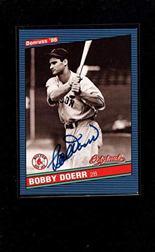 (2002 Donruss Originals #333 Bobby Doerr Authentic Autograph Signature Ay4723 - Baseball Slabbed Autographed Cards)