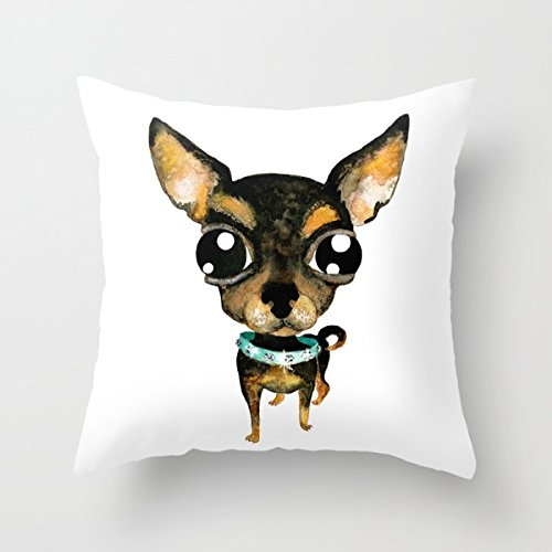 Wayne Family Costume (Alphadecor Pillow Cases Of Slimmingpiggy Comfortable Bedding Chihuahua With Big Eyes 16x16 Inch Pillow Case,for Saloon,bench,family,home Office,outdoor,adults 16 X 16 Inches / 40 By 40 Cm(twice Sid)
