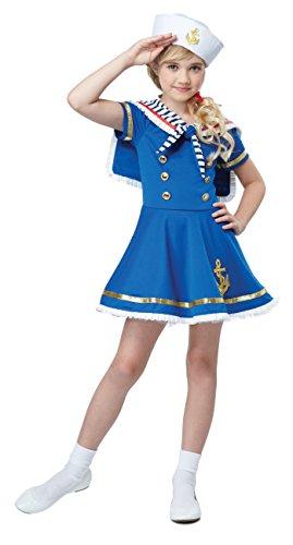 California Costumes Sunny Sailor Girl Costume, Blue/White, Small