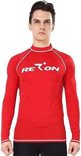 REALON UV Protection Rashguard Swim Rash Shirt rojo grande