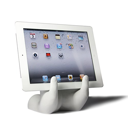 Arad Novelty Hands Book, Tablet Holder For Recipes, Movies, Reading (WHITE)
