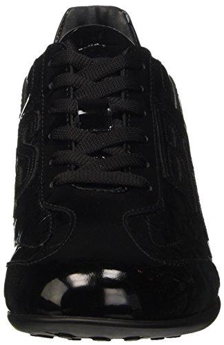 Bikkembergs R-Evolution 882 Low Shoe W Patent/S.Patent, Sandalias con Plataforma para Mujer Negro