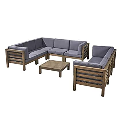 Amazon Com Great Deal Furniture Annabelle Outdoor Sectional Sofa
