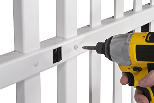 Zippity Outdoor Products ZP19028 Unassembled Madison Vinyl Gate Kit with Fence Wings, White by Zippity Outdoor Products (Image #7)