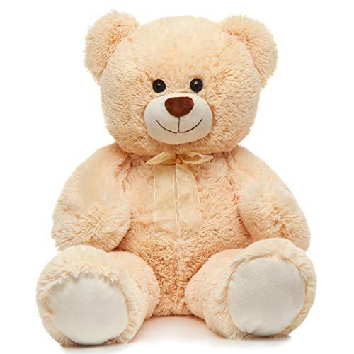 Toys Studio 36 inch Big Teddy Bear Cute Giant Stuffed Animals Soft Plush Bear for Girlfriend Kids, Beige