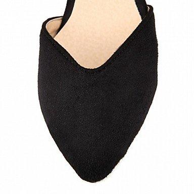 Cómodo y elegante soporte de zapatos de las mujeres pisos comodidad diseño de primavera verano otoño Charol Piel Sintética boda oficina y carrera vestido casual fiesta y noche soporte de talón negro