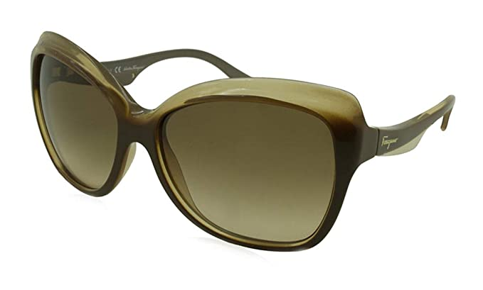 30acb28fd41 Image Unavailable. Image not available for. Color  Salvatore Ferragamo  Womens Gradient Designer Butterfly Sunglasses Brown