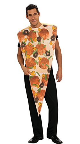 Rubie's Pizza Slice Adult Humor Costume, Red, (Men's Pizza Costume)
