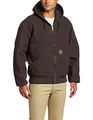 Carhartt Men's Sandstone Active Jacket,Dark Brown,Medium