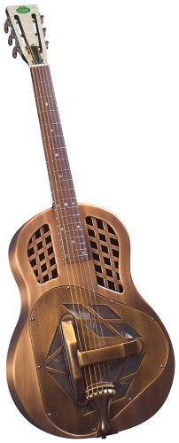 (Regal RC-56 Metal Body Tricone Resophonic Guitar - Copper-Plated Brass)