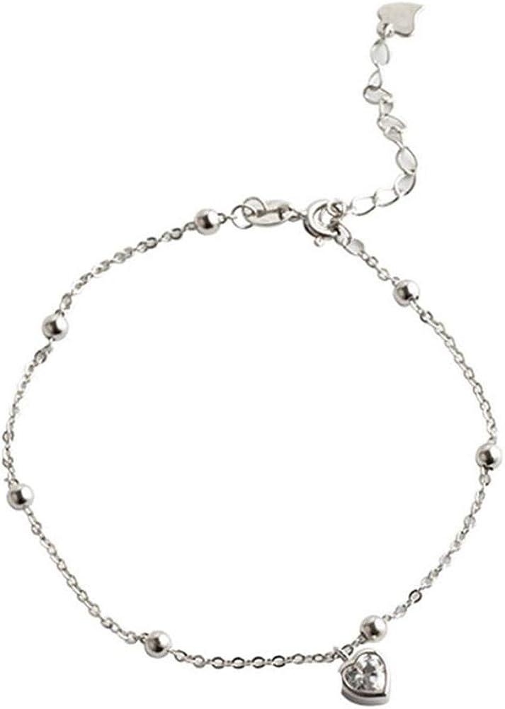 Roapk Pulseras De Plata De Ley Mujer 925 Cadena Ajustable De Perlas De Piedras Preciosas De Circoniode Moda Personalidad Diferenciar Boda Amor