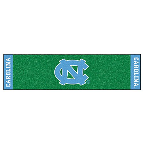 Fanmats Ncaa UNC North Carolina - Chapel Hill College Sports Team Logo Nylon Carpet Indoor Oudoor Golf Practing Putting Green Runner ()